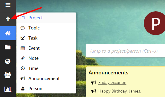 Add projects
