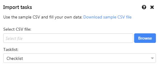 browse csv file