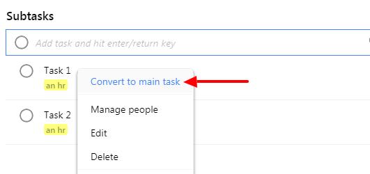 convert to main task