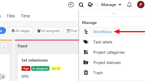 manage workflows