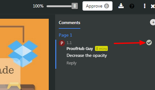 resolve proof comment