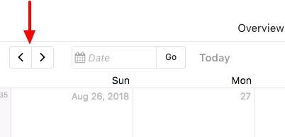 arrow button for calendar