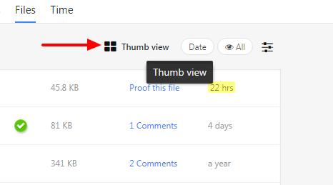 thumb view