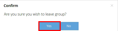confirm group leave
