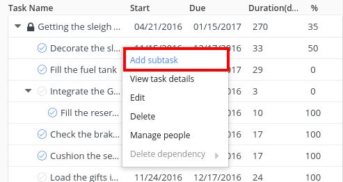 add subtask