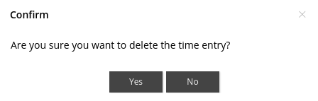 confirm delete time