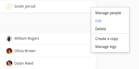 context menu project