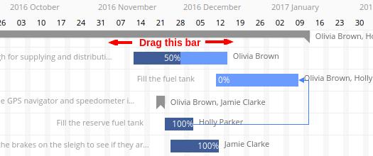 drag task bars