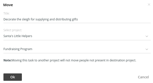 move task window
