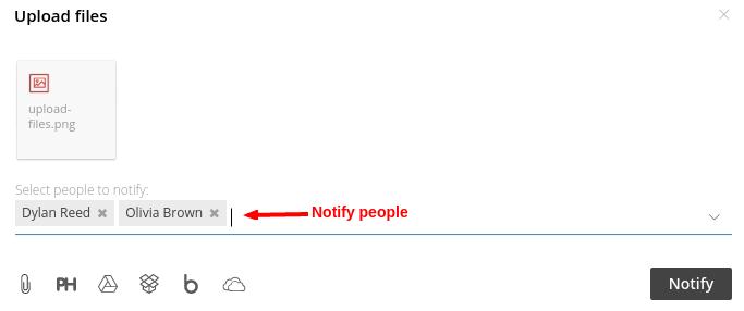 notify people