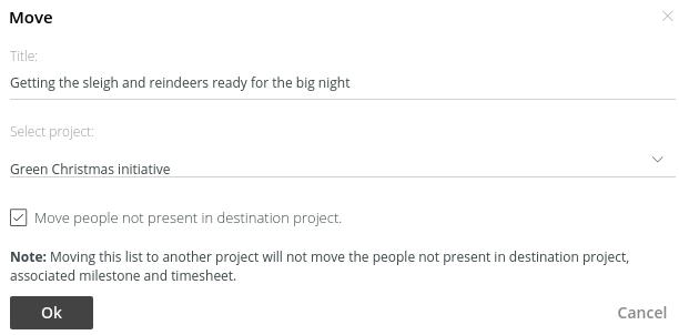 update tasklist