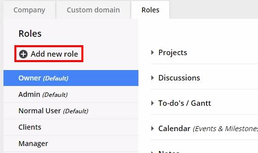 add new role