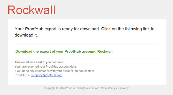 export email