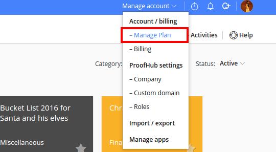 manage plan