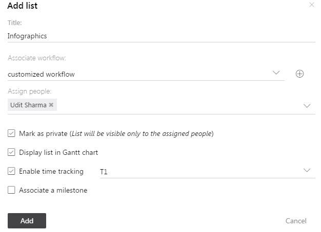 Add task list window new