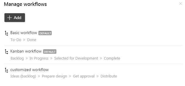 add edit workflows