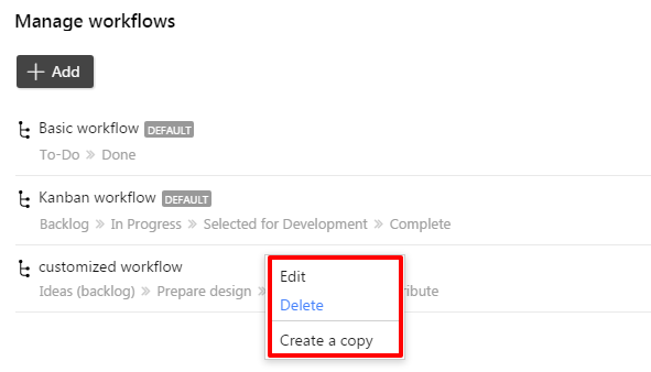 edit delete workflows