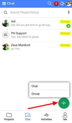 start group chat