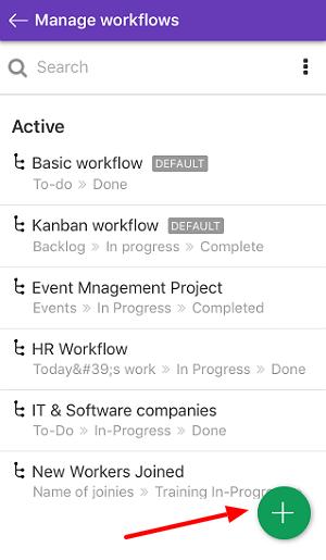 create new custom workflow