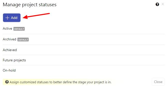 Add new status