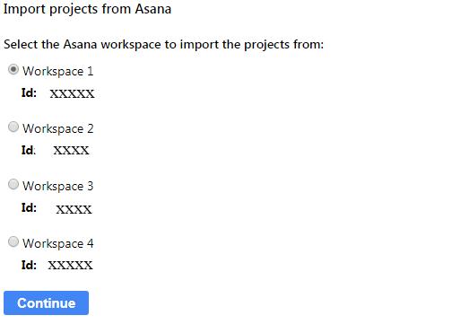 Asana workspace
