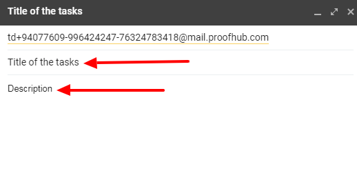email in task without format